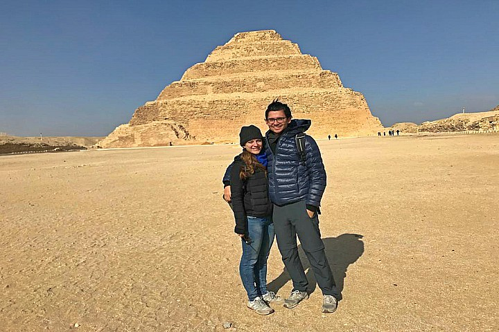 Giza Pyramids and Saqqara Day Trip with Camel Ride