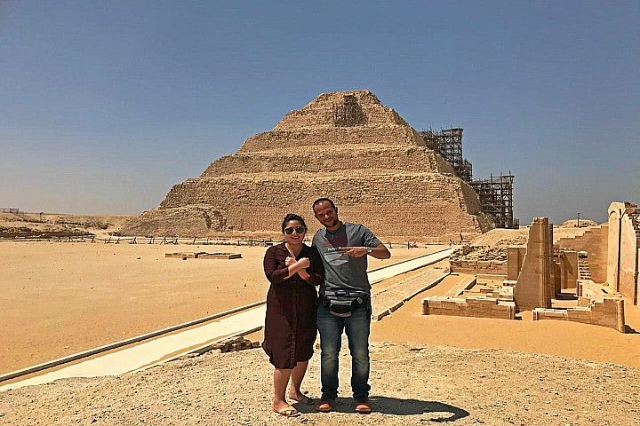 Day Tour to Meidum, Giza Pyramids and Saqqara