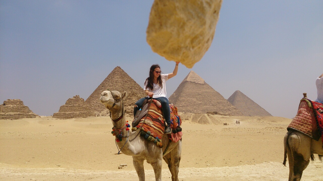 camel ride at giza pyramids