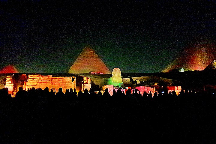 Budget Sound and Light Show in Giza Pyramids